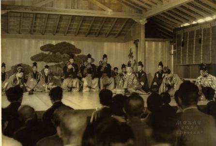 代々木能舞台の舞台びらき